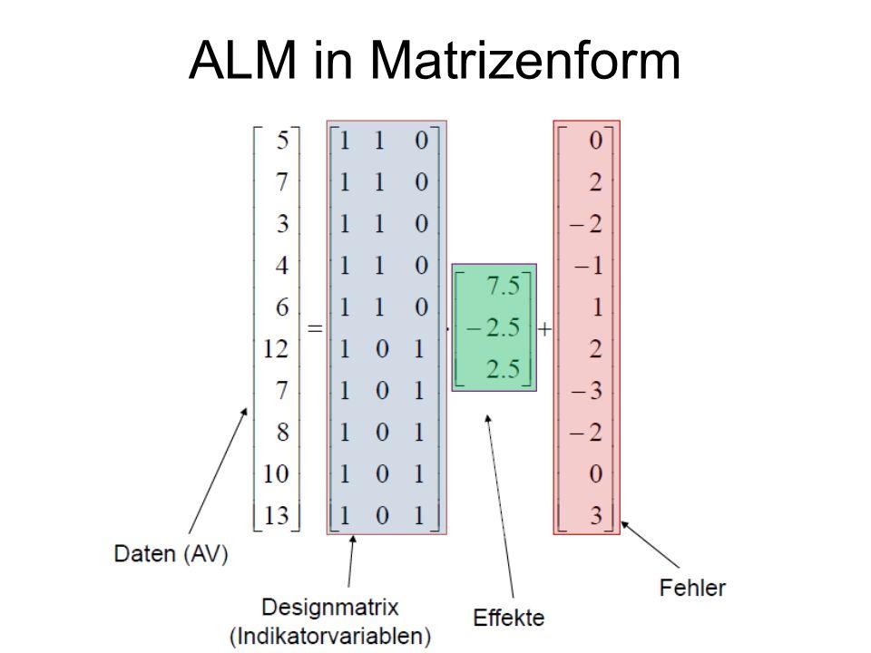 ALM in Matrizenform