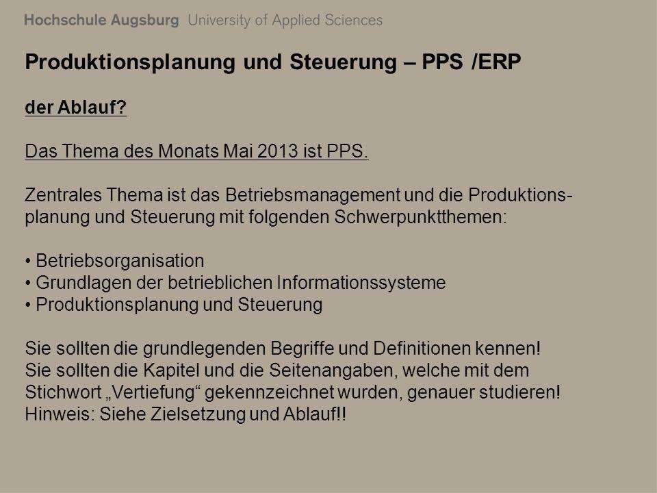28. Juli 2011 Richard Kuttenreich3 Produktionsplanung und Steuerung – PPS /ERP der Ablauf.
