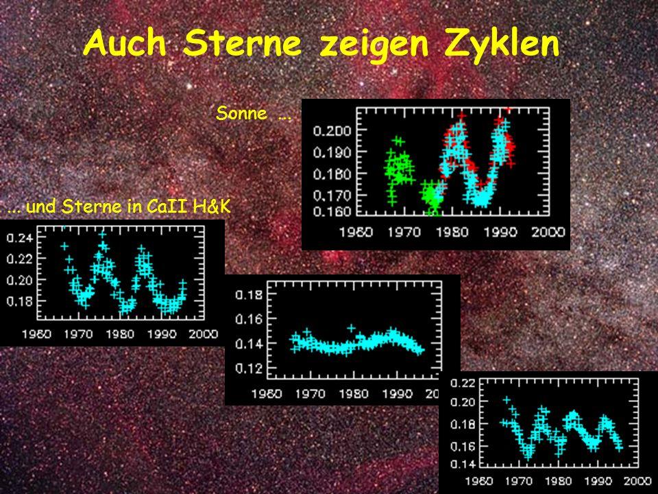 Auch Sterne zeigen Zyklen Sonne...... und Sterne in CaII H&K