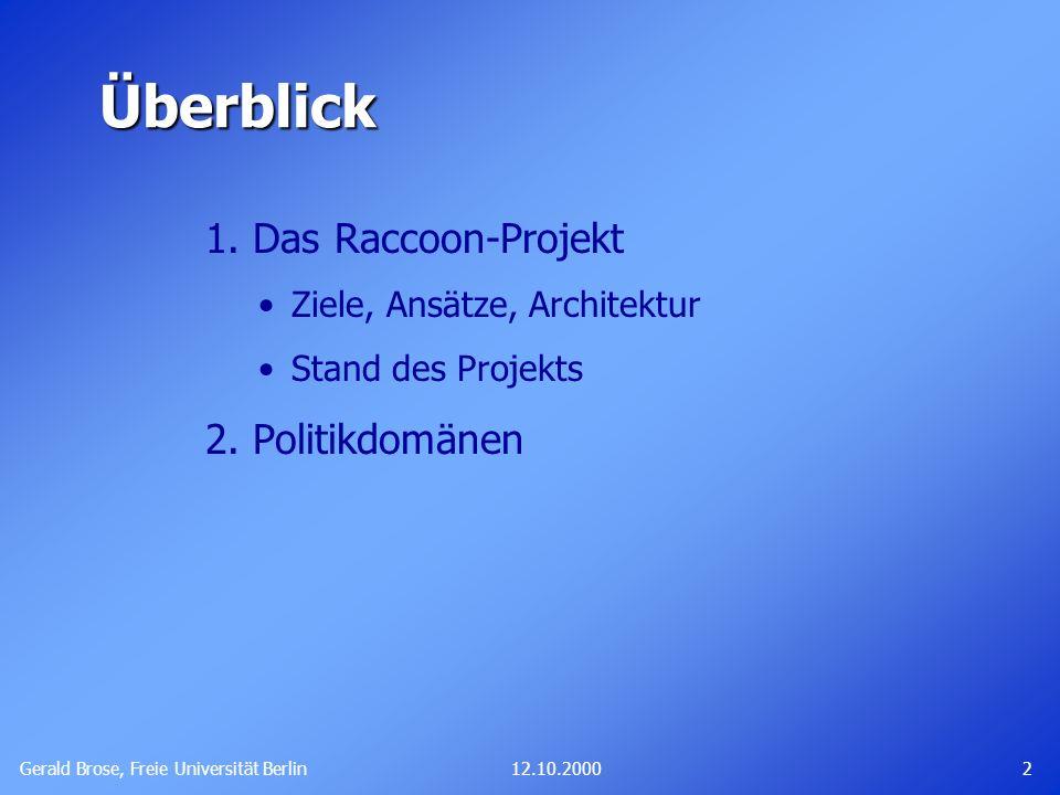 Gerald Brose, Freie Universität Berlin 312.10.2000 1.