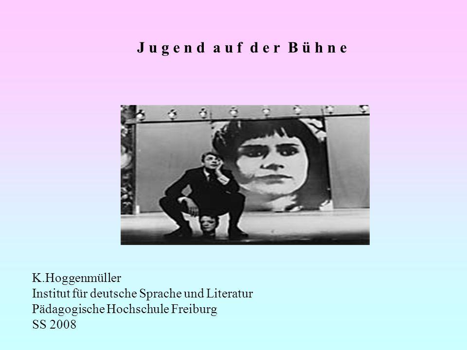 J u g e n d a u f d e r B ü h n e K.Hoggenmüller Institut für deutsche Sprache und Literatur Pädagogische Hochschule Freiburg SS 2008
