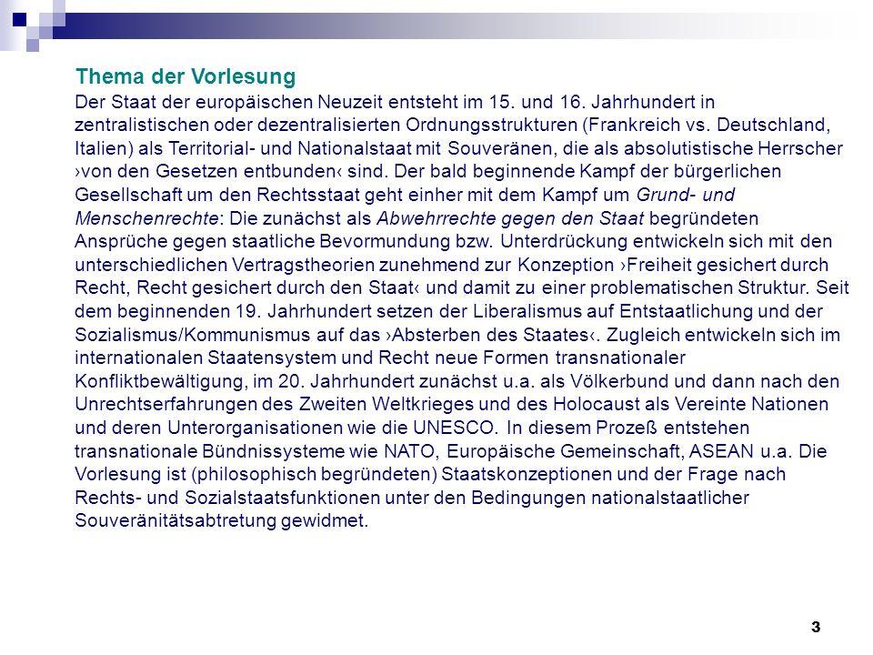 64 Entwicklungen vom Ersten Weltkrieg bis zu den Vereinten Nationen Lektüre-Empfehlung: Norman Paech/ Gerhard Stuby, Völkerrecht und Machtpolitik in den internationalen Beziehungen.