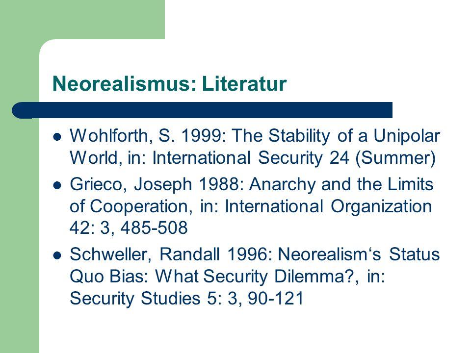 Neorealismus: Literatur Wohlforth, S.