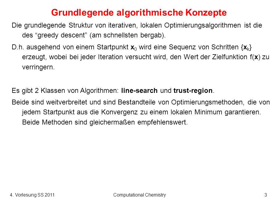4.Vorlesung SS 2011Computational Chemistry34 Genetische Algorithmen (III) Bsp.
