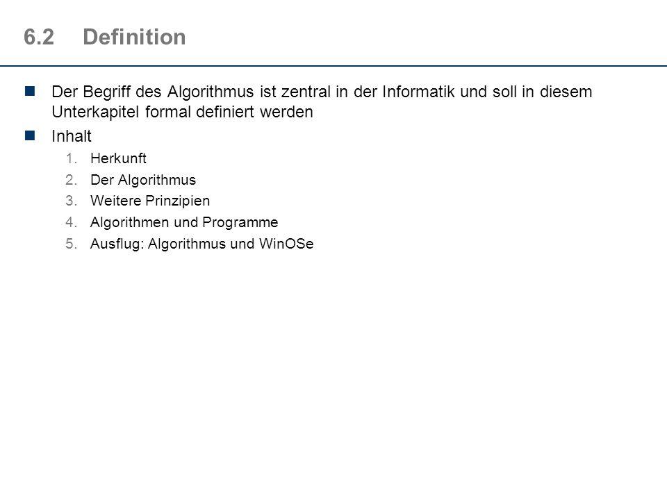 6.1.8Ein weiterer Algorithmus
