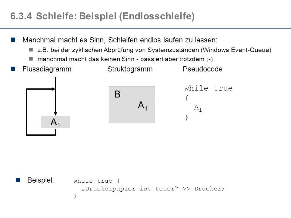 6.2.4Schleife: Die For-Schleife Da Schleifen mit Zähler sehr häufig auftreten, stellen viele Programmiersprachen ein eigenes sprachliches Mittel dafür