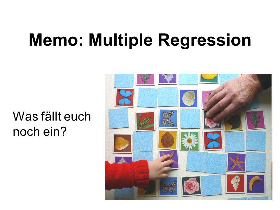 Memo: Multiple Regression Was fällt euch noch ein?