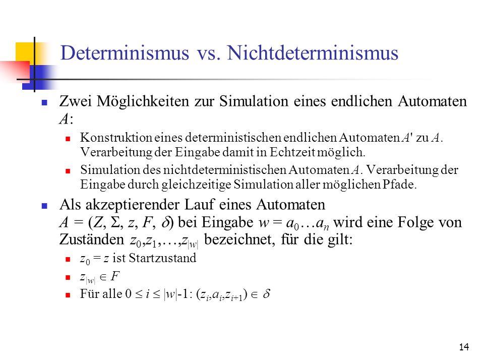 14 Determinismus vs.