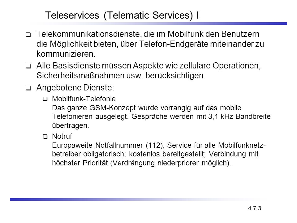 Universal Mobile Telecommunications System (UMTS) UMTS Minimale Anforderungen min.