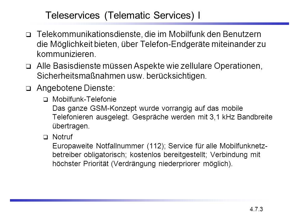 Teleservices (Telematic Services) I Telekommunikationsdienste, die im Mobilfunk den Benutzern die Möglichkeit bieten, über Telefon-Endgeräte miteinand