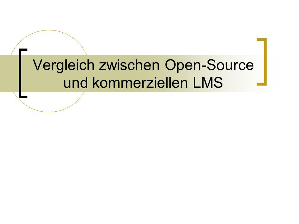 Vergleich zwischen Open-Source und kommerziellen LMS