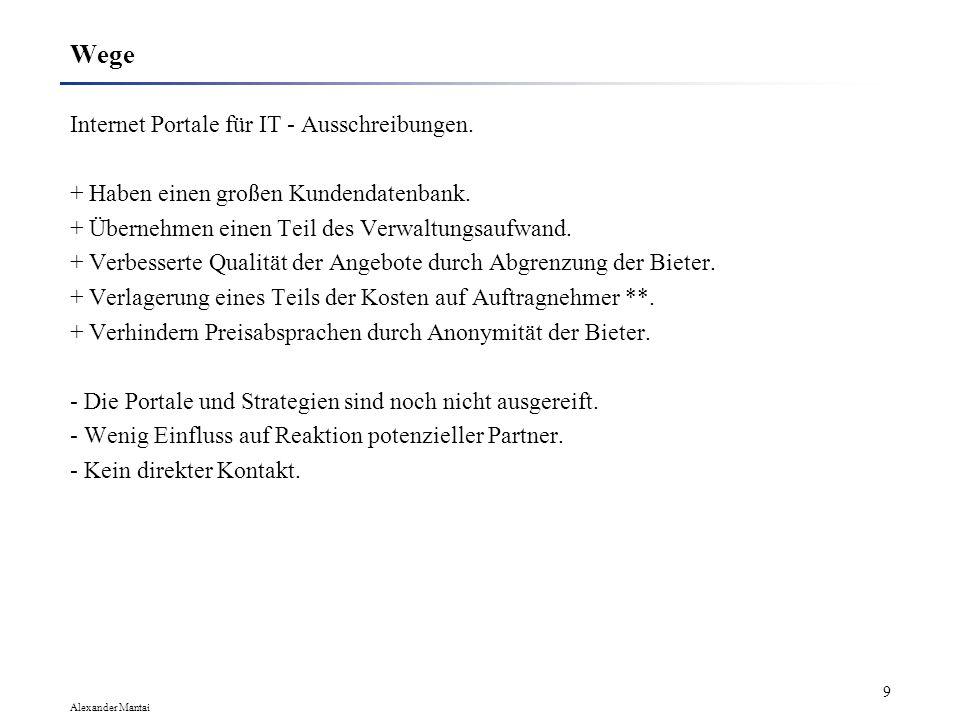 Alexander Mantai 9 Wege Internet Portale für IT - Ausschreibungen.