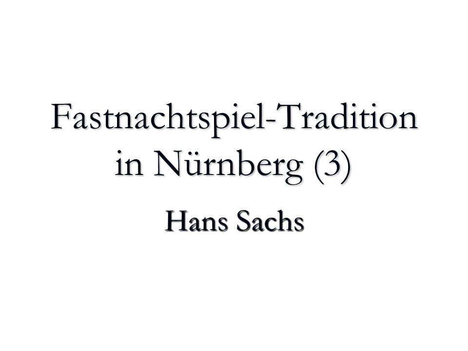 Hans Sachs und seine Bearbeitung des Prosaroman Tristrant und Isalde Auch sonst nutzt Sachs vielfach die gleiche Quelle für Dichtungen in unterschiedlichen Gattungen: als Spruchgedicht, Meistergesang oder Drama.