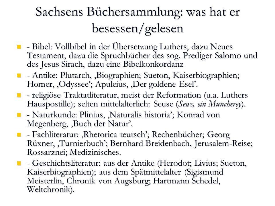 - Erzählsammlungen: Gesta Romanorum; Boccaccio (Decamerone; Berühmte Frauen), Johannes Pauli (Schimpf und Ernst), Jörg Wickram (Rollwagenbüchlein [Text: reclam]), - Erzählsammlungen: Gesta Romanorum; Boccaccio (Decamerone; Berühmte Frauen), Johannes Pauli (Schimpf und Ernst), Jörg Wickram (Rollwagenbüchlein [Text: reclam]), - didaktische Literatur: Sebastian Brant, Narrenschiff; Steinhöwel Esopus mit Additamenta des Seb.