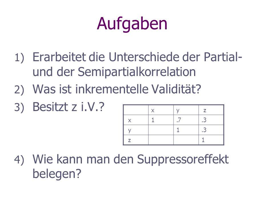 Ordne die Tabellen den Venn-Diagrammen zu: a) b) c) xyz x100 y010 z001 xyz x10,80 y 10 z001 xyz x10,270 y 10 z001 1.