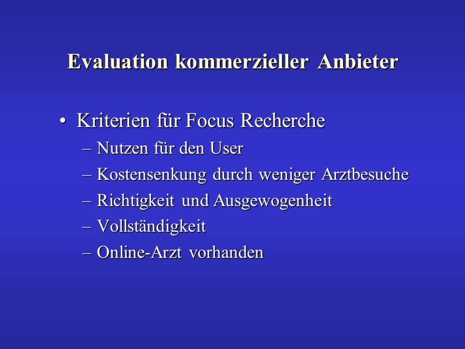 Ergebnis der Recherche für FocusErgebnis der Recherche für Focus –Der User kann einen Arzt finden.