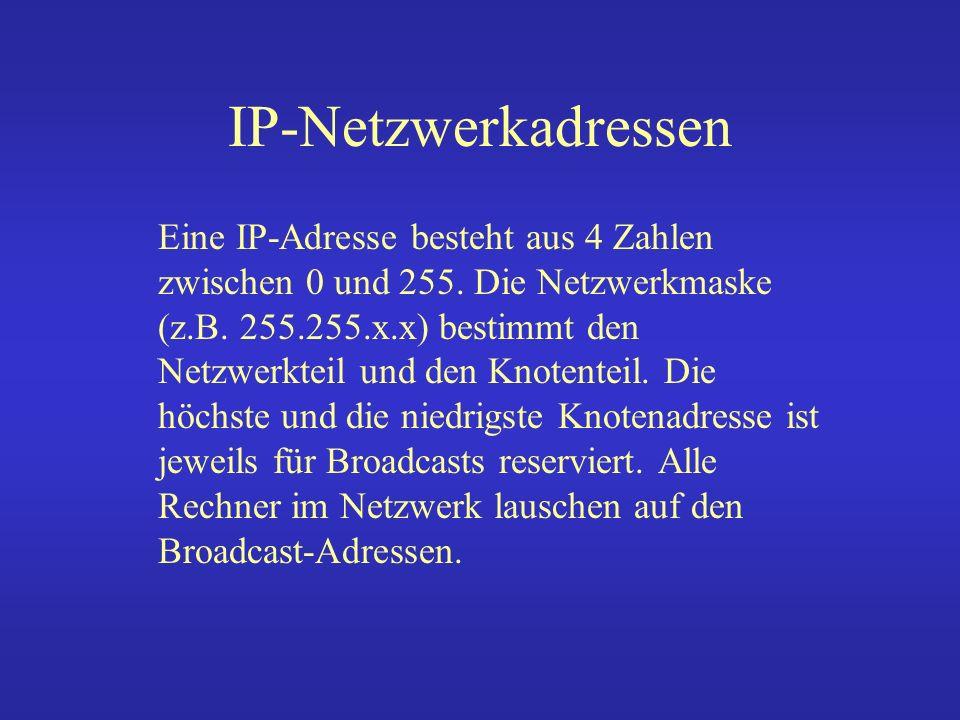 IP-Netzwerke Ip-Netz 131.220.23.0 Broadcast 0 & 255 Maske255.255.255.0oder /24 131.220.