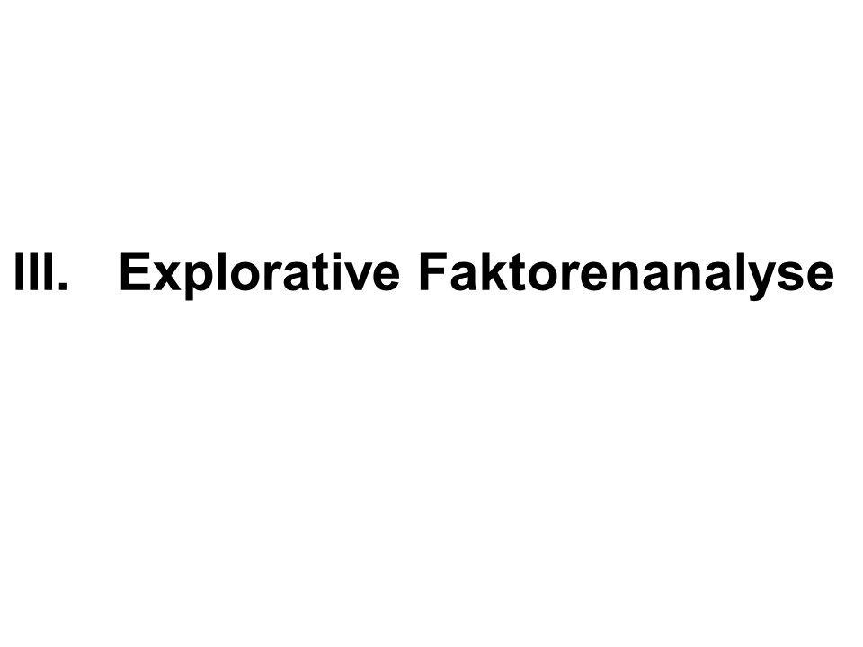 III.Explorative Faktorenanalyse