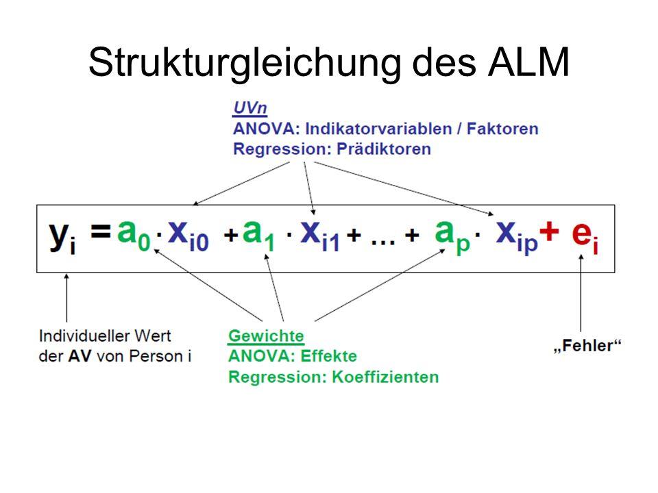 Strukturgleichung des ALM