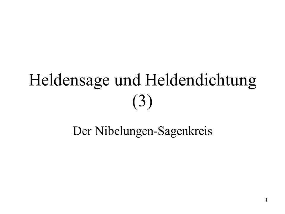 1 Heldensage und Heldendichtung (3) Der Nibelungen-Sagenkreis