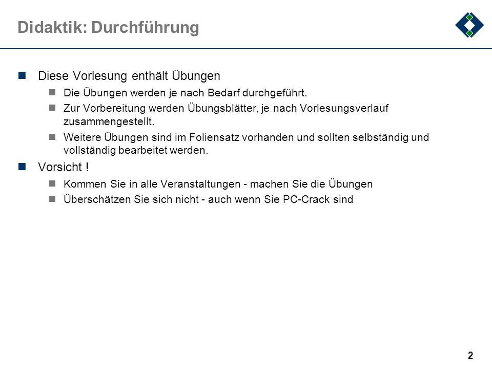 62 3.1Definitionen … ein paar Definitionen..