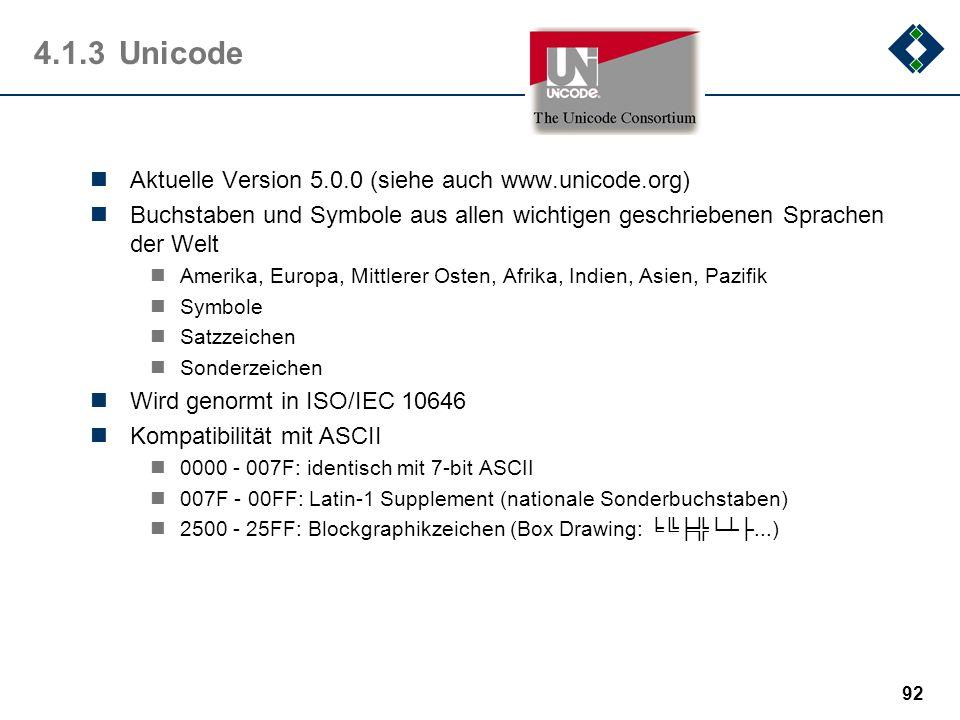 91 4.1.2EBCDIC - Sonderzeichen Die Bedeutung der Sonderzeichen