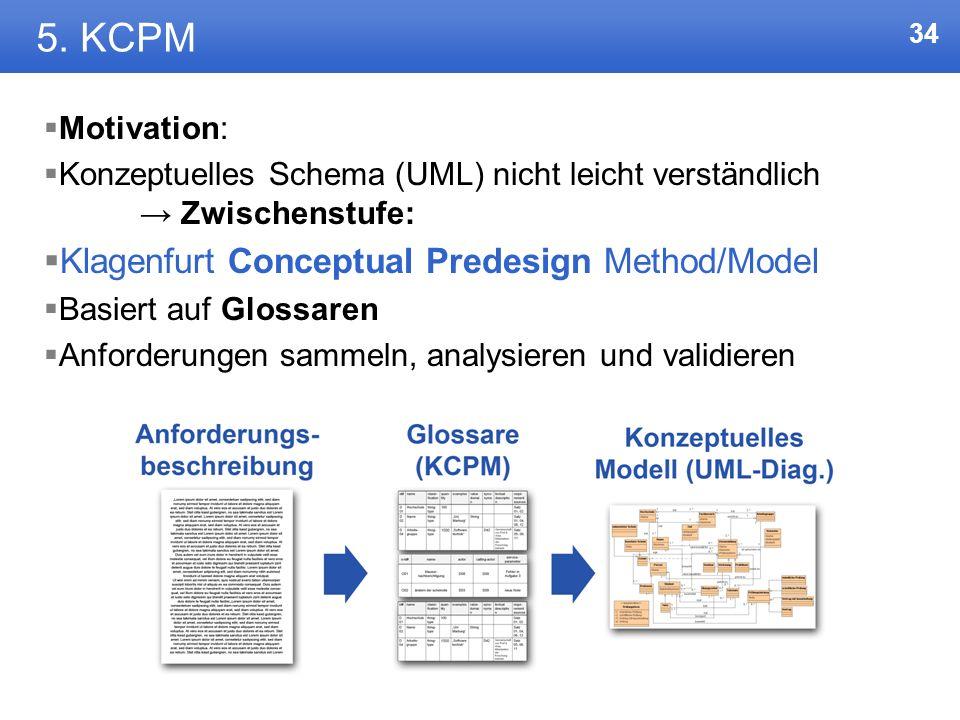 33 4. UML-Klassendiagramm Vor- und Nachteile bei UML Mit UML ließ sich alles darstellen, das ganze steht und fällt jedoch mit der Beschreibung des Anw