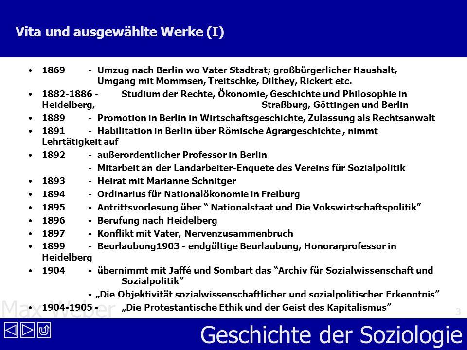 Max Weber Geschichte der Soziologie 14 Vergleich der Weltreligionen Vergleich der europäischen und der asiatischen Religionsformen Ausgang von der Theodizee-Frage: Wie kann man das Böse in der Welt meiden.