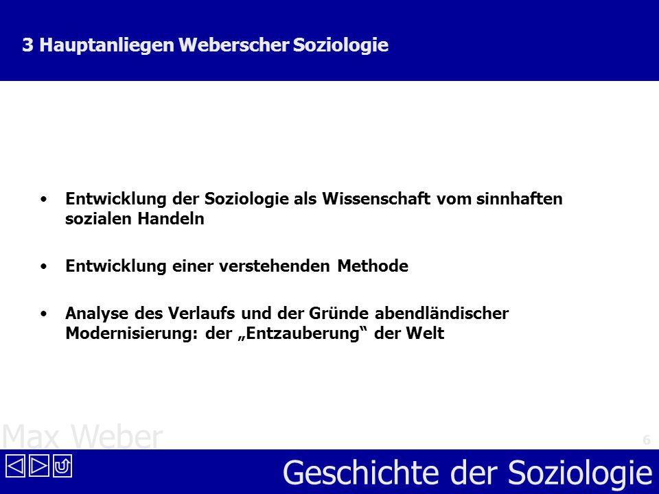 Geschichte der Soziologie Max Weber