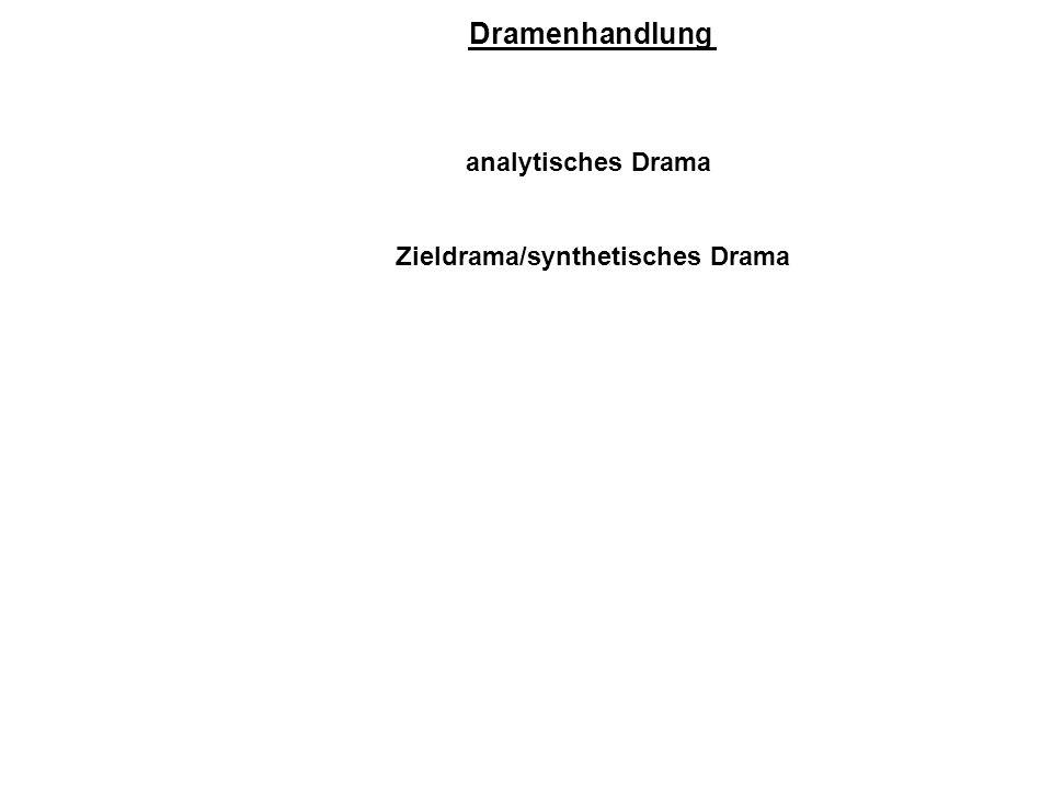 Dramenhandlung analytisches Drama Zieldrama/synthetisches Drama