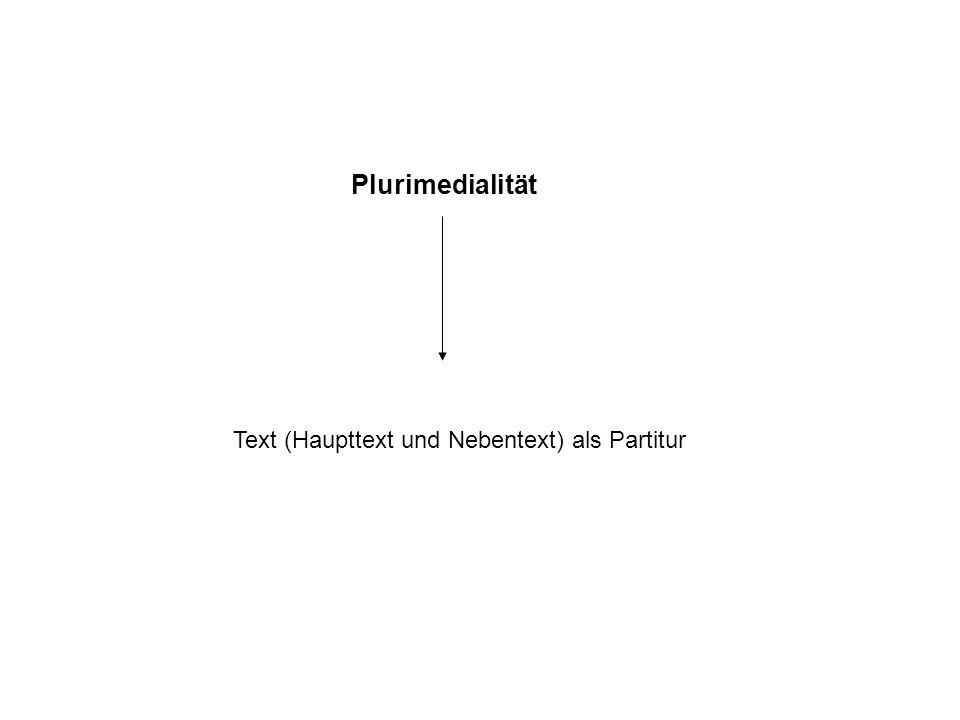 Der dramatische Text unterscheidet sich von den epischen und lyrischen Texten vor allem durch seine Plurimedialität der Textpräsentation.dramatische T