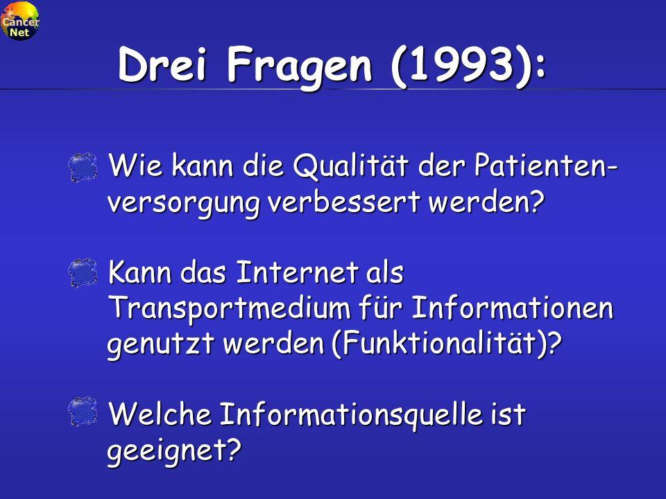 Kann das Internet als Transportmedium für Informationen genutzt werden (Funktionalität).