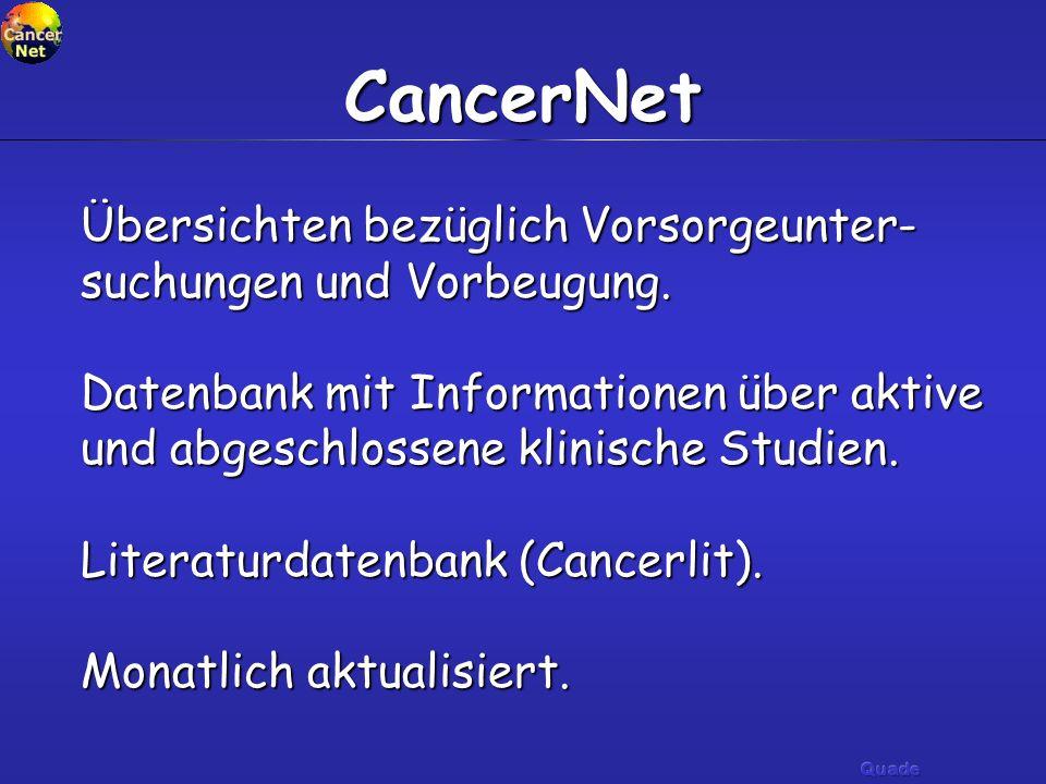 Warum nutzen Ärzte Cancernet.