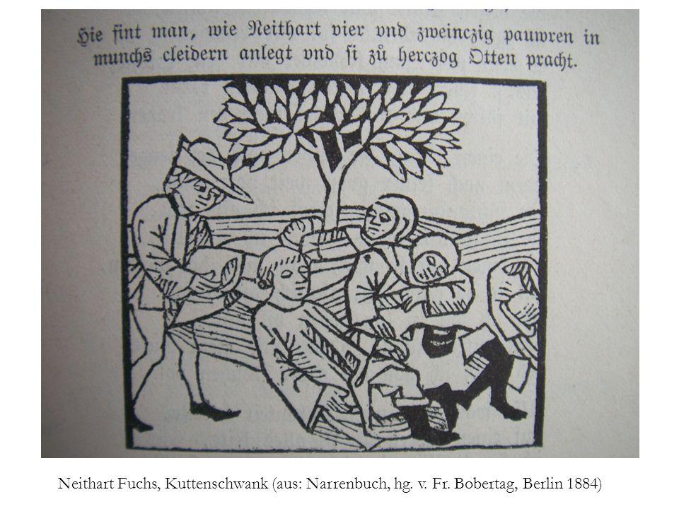 Neithart Fuchs, Kuttenschwank (aus: Narrenbuch, hg. v. Fr. Bobertag, Berlin 1884)