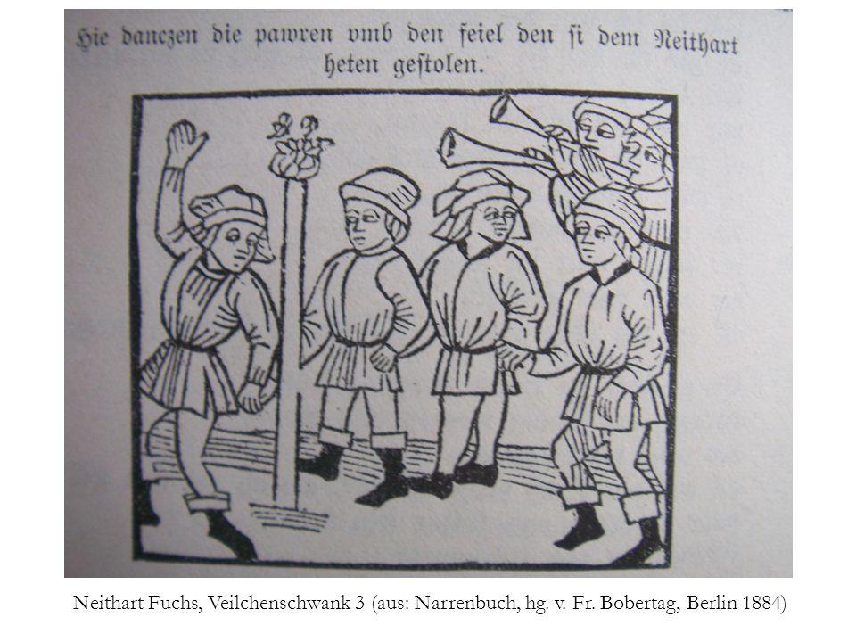 Neidharttanz als Wandmalerei. Wien, Tuchlauben 19. 14. Jh.