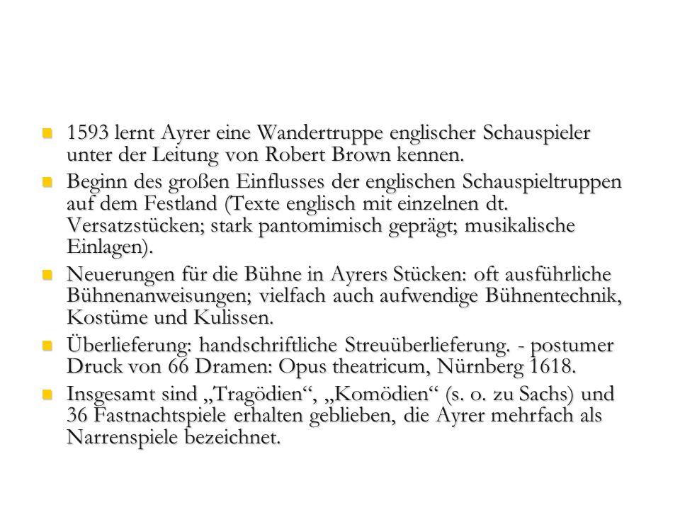Jacob Ayrer, Die Erziehung der bösen Frau (Wuttke, Nr.