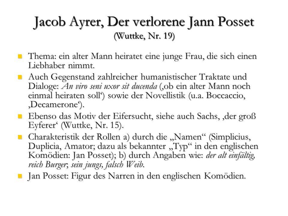 Eröffnung und Abschluss ohne Precursor/ Ausschreyer.