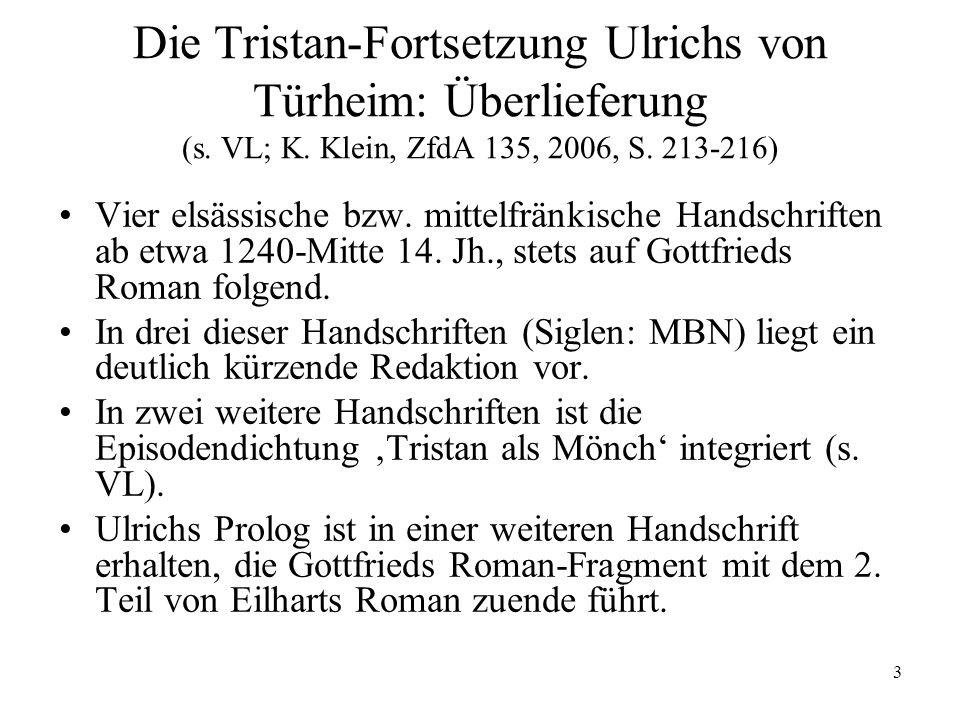 4 Übersicht über den Text Prolog: Klage über den Tod Gottfrieds.