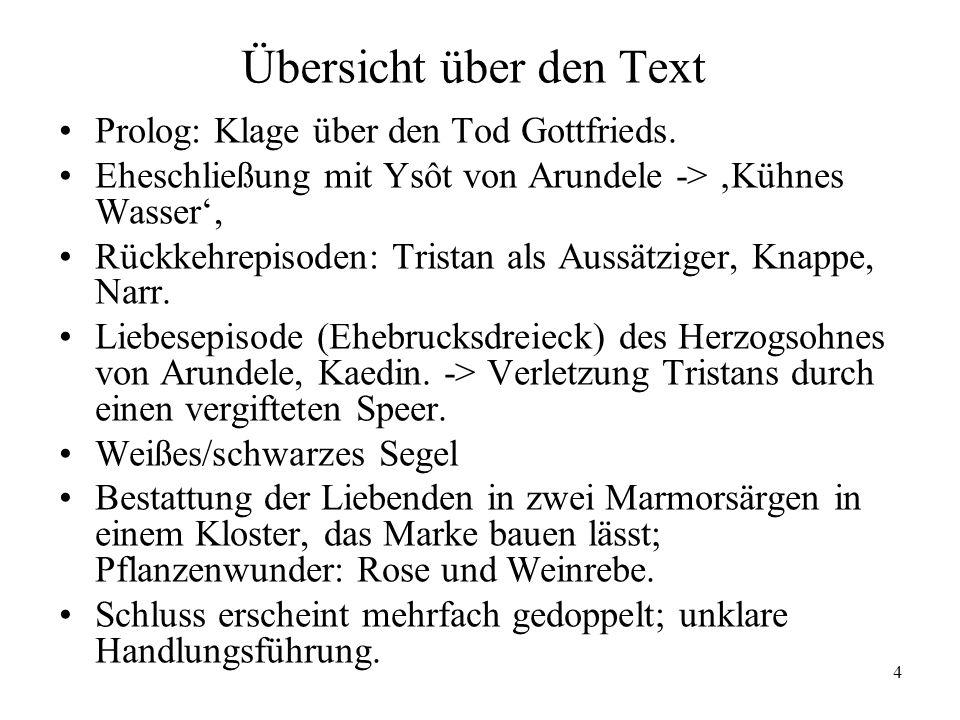5 Die Tristan-Fortsetzung Heinrichs von Freiberg, um 1285/90 (s.