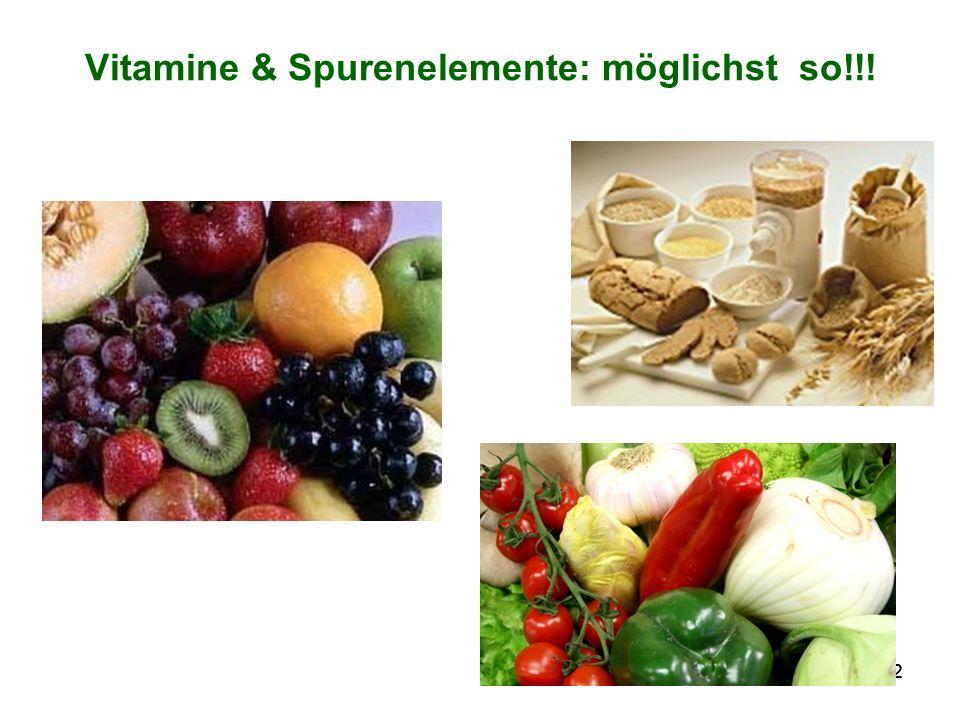 32 Vitamine & Spurenelemente: möglichst so!!!
