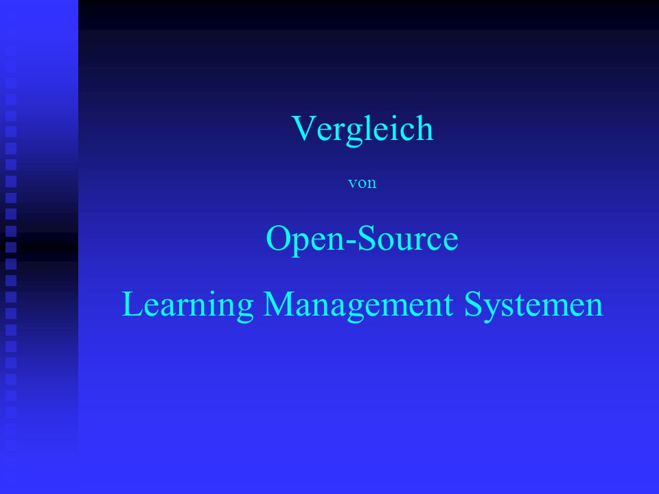Vergleich von Open-Source Learning Management Systemen c.