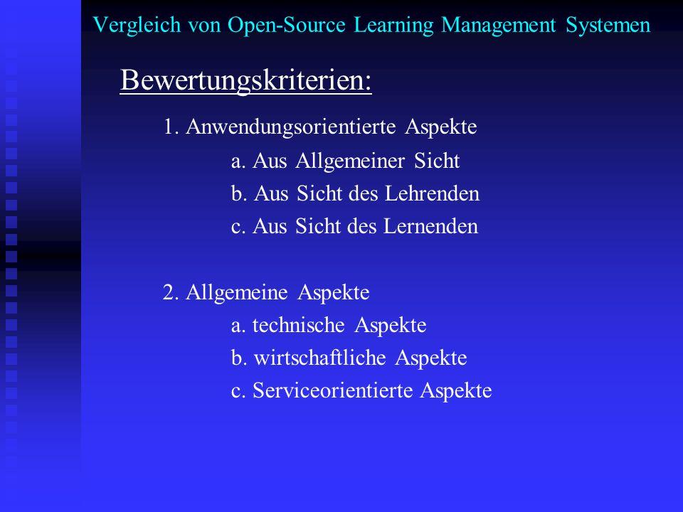 Vergleich von Open-Source Learning Management Systemen 1.