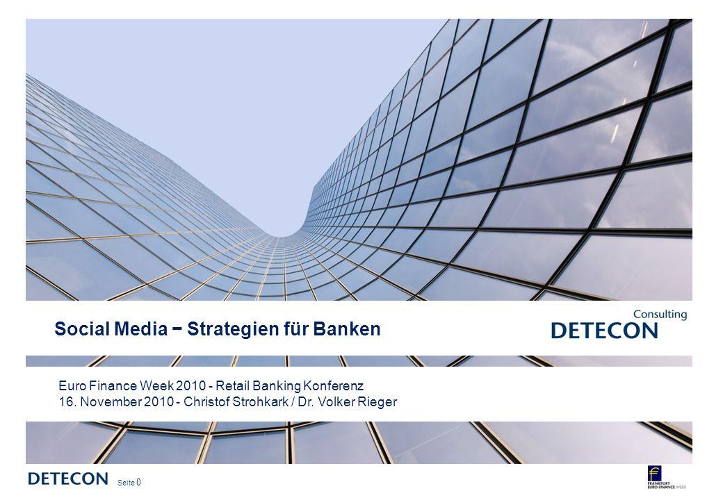 Seite 0 Euro Finance Week 2010 - Retail Banking Konferenz 16.