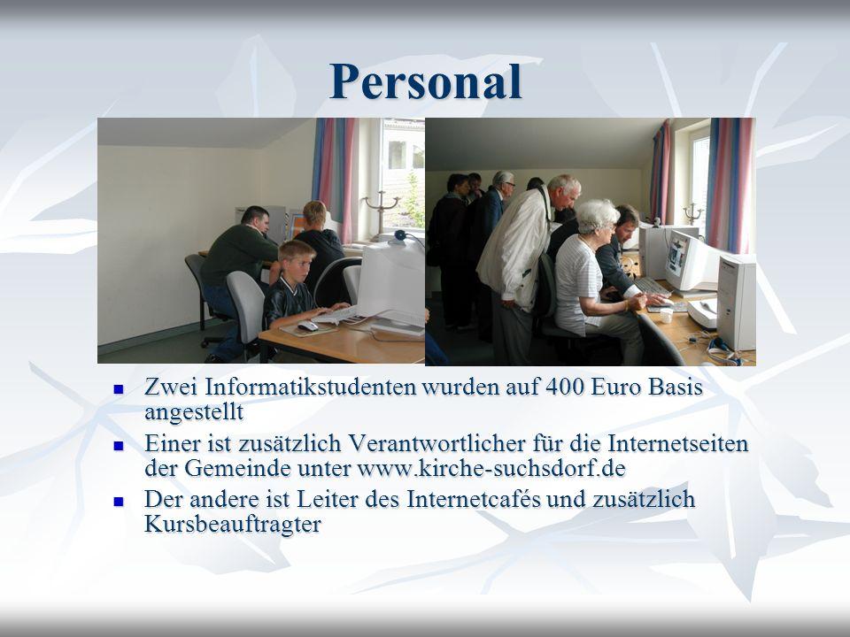 Personal Zwei Informatikstudenten wurden auf 400 Euro Basis angestellt Zwei Informatikstudenten wurden auf 400 Euro Basis angestellt Einer ist zusätzl