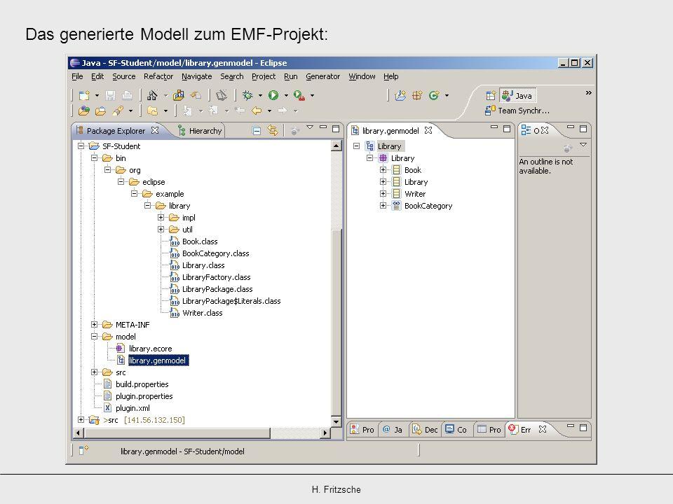 H. Fritzsche Das generierte Modell zum EMF-Projekt: