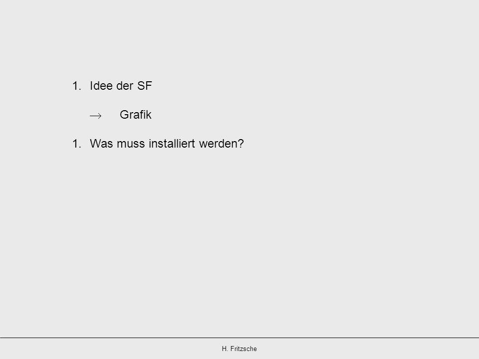 H. Fritzsche 1.Idee der SF Grafik 1.Was muss installiert werden?