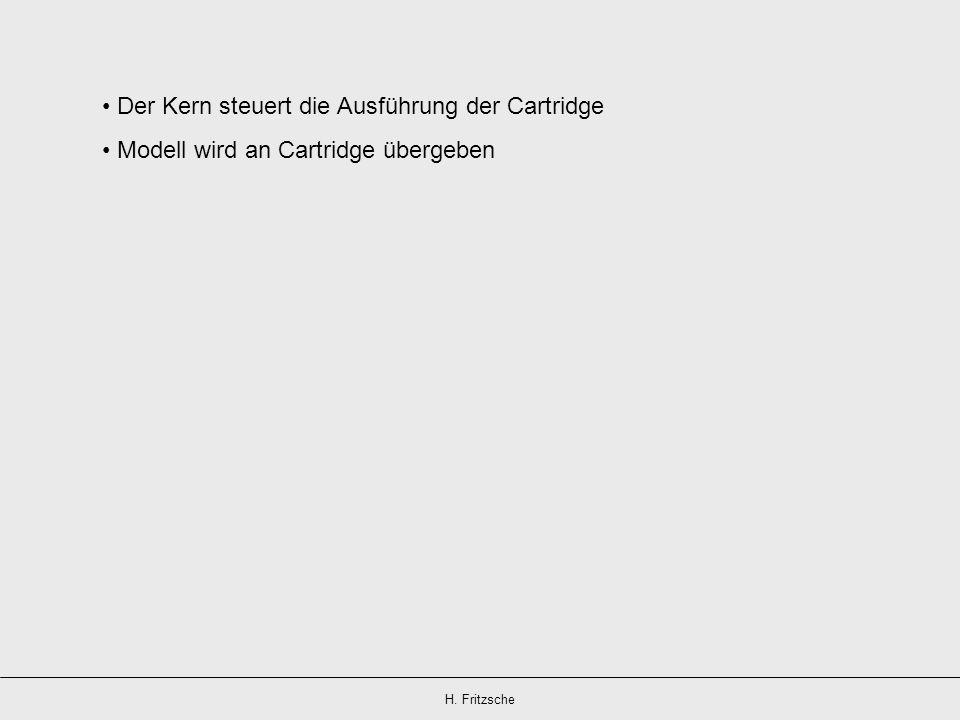 Der Kern steuert die Ausführung der Cartridge Modell wird an Cartridge übergeben
