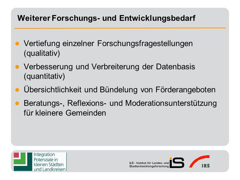(1) Sensibilisierung von Politik und Öffentlichkeit sowie Unterstützungs- und Bestätigungsfunktion für die Integrationsarbeit vor Ort (2) Schaffung bzw.