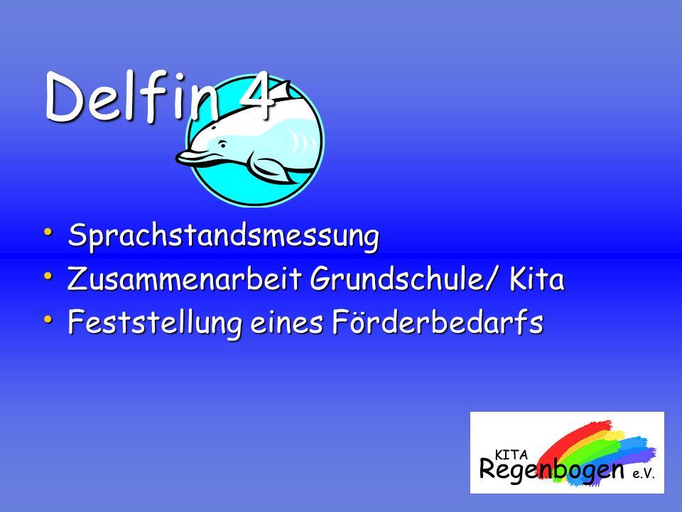Delfin 4 Sprachstandsmessung Sprachstandsmessung Zusammenarbeit Grundschule/ Kita Zusammenarbeit Grundschule/ Kita Feststellung eines Förderbedarfs Fe