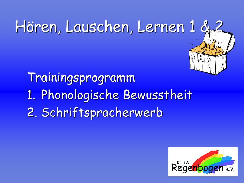 Hören, Lauschen, Lernen 1 & 2 Trainingsprogramm 1.Phonologische Bewusstheit 2.Schriftspracherwerb